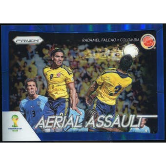 2014 Panini Prizm World Cup Aerial Assault Prizms Blue #5 Radamel Falcao /199