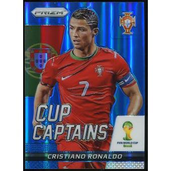 2014 Panini Prizm World Cup Cup Captains Prizms Blue #5 Cristiano Ronaldo /199