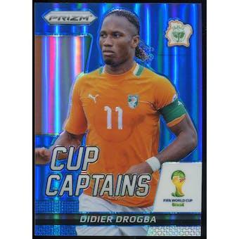 2014 Panini Prizm World Cup Cup Captains Prizms Blue #7 Didier Drogba /199