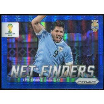 2014 Panini Prizm World Cup Net Finders Prizms Blue #24 Luis Suarez /199