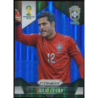 2014 Panini Prizm World Cup Prizms Blue #104 Julio Cesar /199