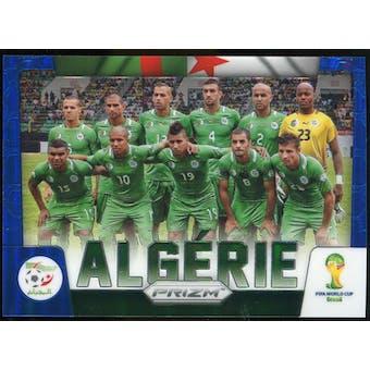 2014 Panini Prizm World Cup Team Photos Prizms Blue #1 Algeria /199