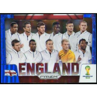 2014 Panini Prizm World Cup Team Photos Prizms Blue #13 England /199