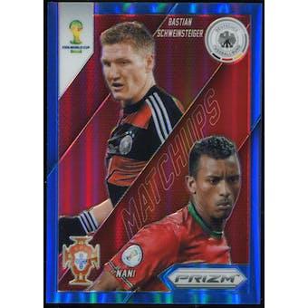 2014 Panini Prizm World Cup World Cup Matchups Prizms Blue #14 Bastian Schweinsteiger/Nani /199
