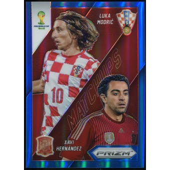 2014 Panini Prizm World Cup World Cup Matchups Prizms Blue #25 Luka Modric/Xavi Hernandez /199