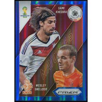 2014 Panini Prizm World Cup World Cup Matchups Prizms Blue #27 Sami Khedira/Wesley Sneijder /199