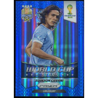 2014 Panini Prizm World Cup World Cup Stars Prizms Blue #36 Edinson Cavani /199