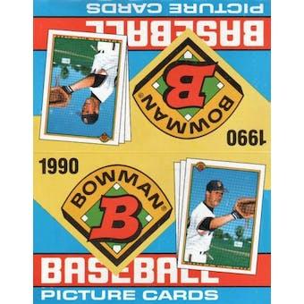1990 Bowman Baseball Rack Box