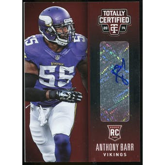 2014 Totally Certified Rookie Signatures Platinum Red #130 Anthony Barr Serial #20/50