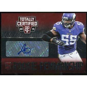 2014 Totally Certified Rookie Penmanship Red #RPAB Anthony Barr