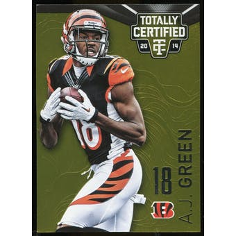 2014 Totally Certified Platinum Gold #19 A.J. Green Serial # 07/25