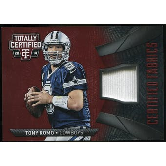 2014 Totally Certified Certified Fabrics Red #CFTRO Tony Romo Serial # 04/50