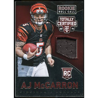 2014 Totally Certified Rookie Roll Call Jerseys Red #RCCAM A.J. McCarron #91/100