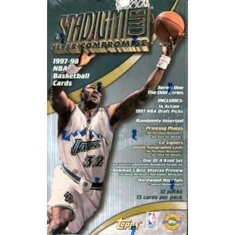 1997/98 Topps Stadium Club Series 1 Basketball Jumbo Box