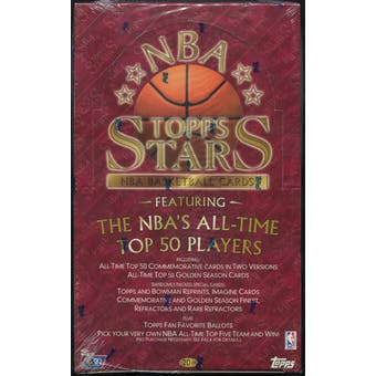 1996/97 Topps Stars Basketball Retail 20 Pack Box