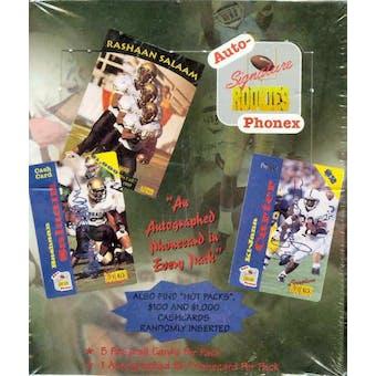 1995 Signature Rookies Auto-Phonex Football Hobby Box