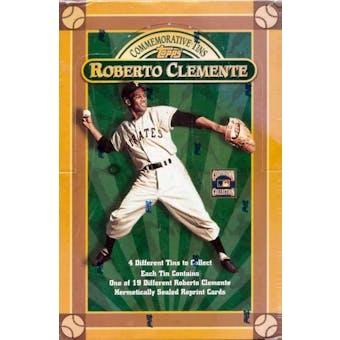 1998 Topps Baseball Roberto Clemente Commemorative Tins Hobby Box