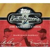 2006 Topps Co-Signers Baseball Hobby Box (Damaged)
