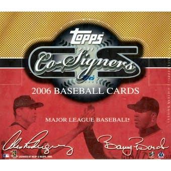2006 Topps Co-Signers Baseball Hobby Box