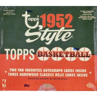 2005/06 Topps Style '52 Basketball Hobby Box