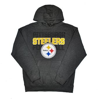 Pittsburgh Steelers Majestic Charcoal Grey 1st & Goal VI Hooded Sweatshirt