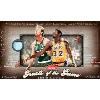 2005/06 Fleer Greats Of The Game Basketball Hobby Box