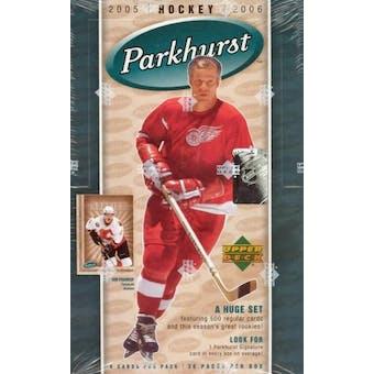 2005/06 Upper Deck Parkhurst Hockey Hobby Box