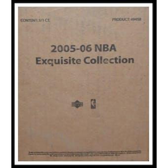 2005/06 Upper Deck Exquisite Basketball Hobby 3-Box Case
