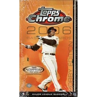 2006 Topps Chrome Baseball Hobby Box
