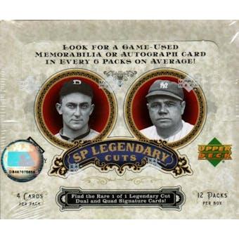 2006 Upper Deck SP Legendary Cuts Baseball Hobby Box