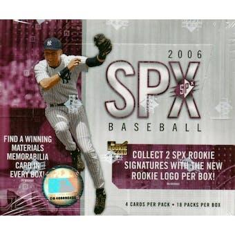 2006 Upper Deck SPx Baseball Hobby Box