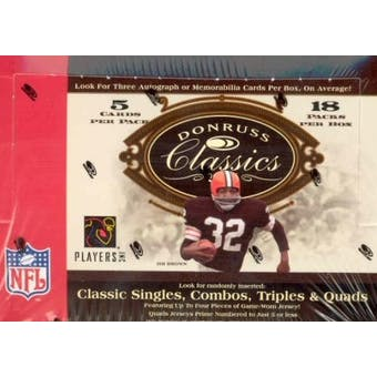 2006 Donruss Classics Football Hobby Box