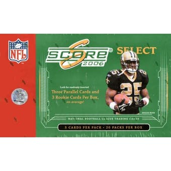 2006 Score Select Football Hobby Box