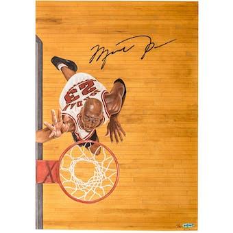 Michael Jordan Autographed Rebound Original Art 1of 1 UDA