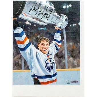 Wayne Gretzky Autographed Stanley Cup Original Art 1 of 1 UDA