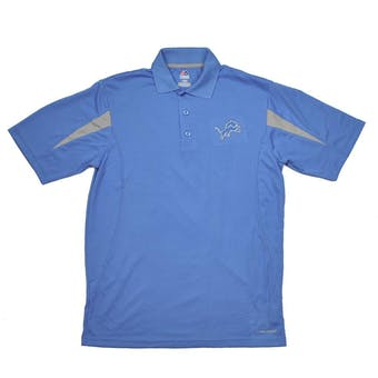 Detroit Lions Majestic Blue Field Classic Cool Base Performance Polo (Adult L)