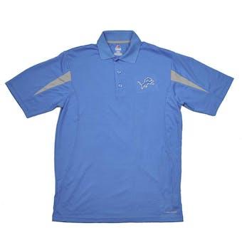 Detroit Lions Majestic Blue Field Classic Cool Base Performance Polo (Adult M)