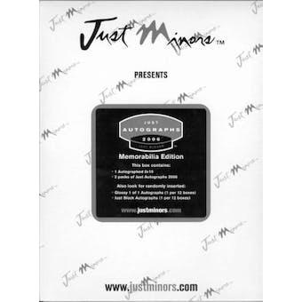 2006 Just Minors Just Autographs Memorabilia Edition Baseball Hobby Box