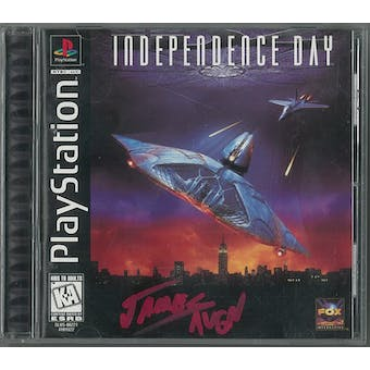 Sony PlayStation (PS1) Independence Day AVGN Red Autographed Game
