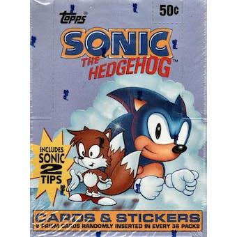 Sonic the Hedgehog Hobby Box (1993 Topps)
