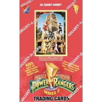 Power Rangers Series 2 Hobby Box (1994 Collect-A-Card)