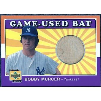 2001 Upper Deck Decade 1970's Game Bat #BBOM Bobby Murcer
