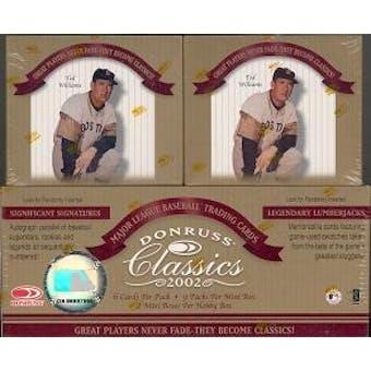 2002 Donruss Classics Baseball Hobby Box