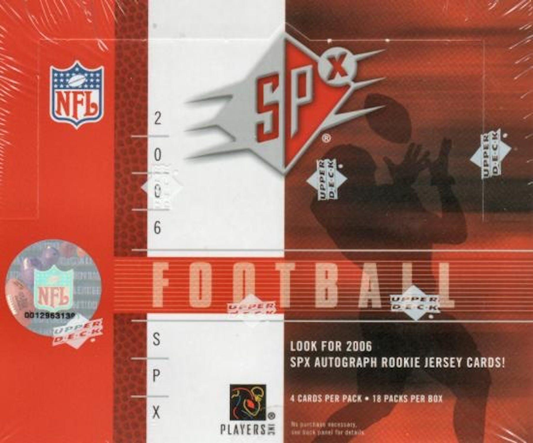 2006 Upper Deck Spx Football Hobby Box Da Card World