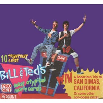 Bill and Ted's Most Atypical Movie Box (1991 Pro Set)