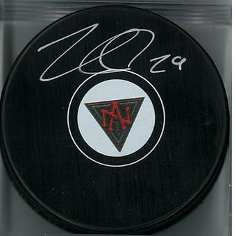 Nathan MacKinnon Autographed North American Hockey Puck (Frameworth COA)