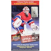 2015/16 Upper Deck Series 1 Hockey 12-Pack Blaster Box