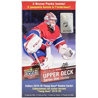 2015/16 Upper Deck Series 1 Hockey 12-Pack Blaster Box
