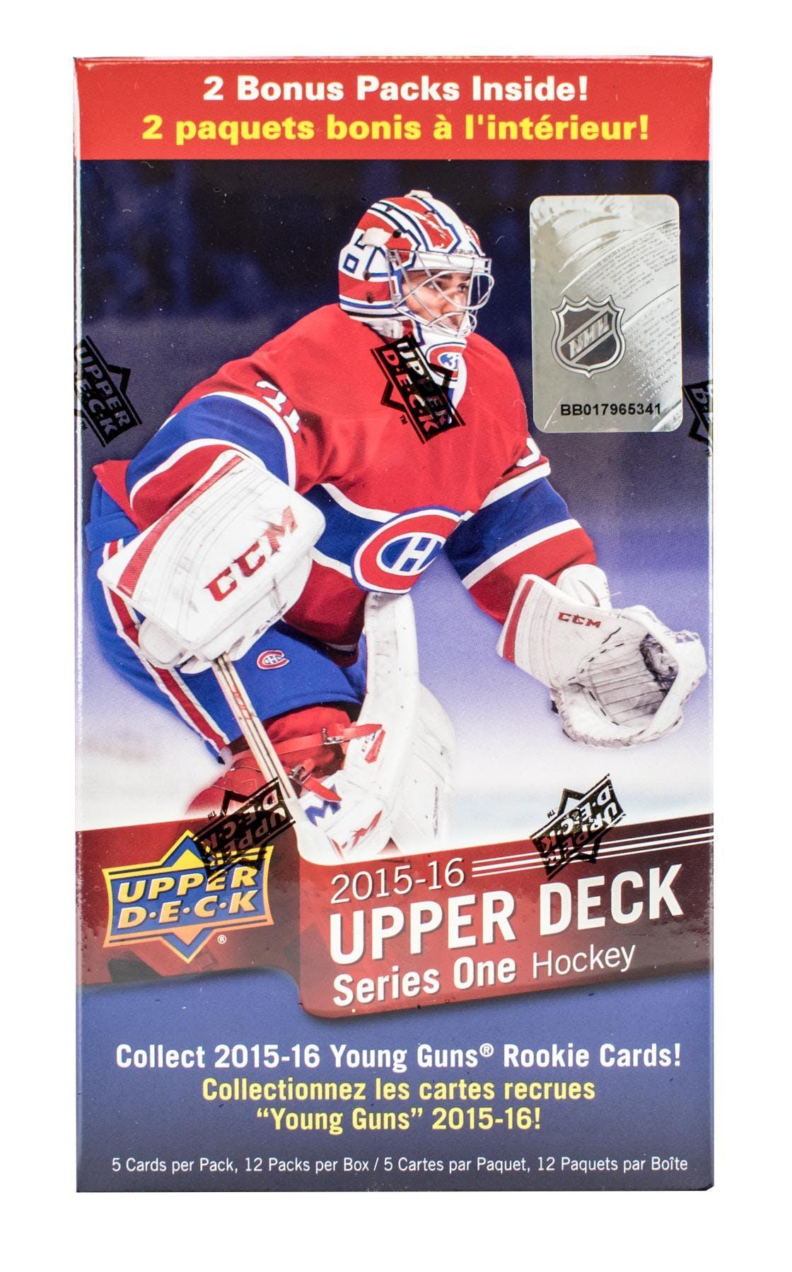2015 16 Upper Deck Series 1 Hockey 12 Pack Blaster Box