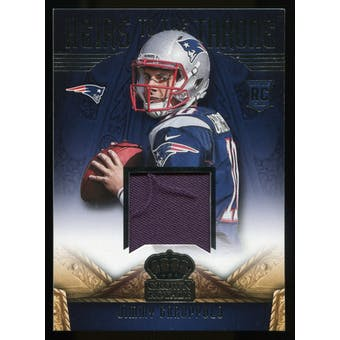 2014 Crown Royale Heirs to the Throne Materials #HTBG Jimmy Garoppolo